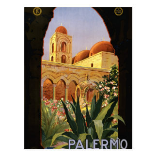 Palermo Sicily Italian Travel Poster 1920 ENIT Post Cards