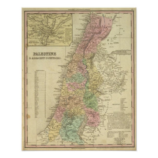 Palestine & Adjacent Countries Poster