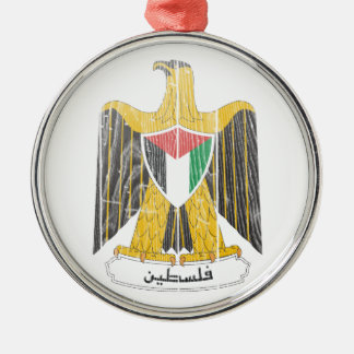 Palestine Coat of Arms Metal Ornament