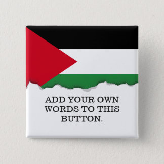 Palestine Flag 2 Inch Square Button