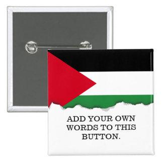 Palestine Flag 2 Inch Square Button