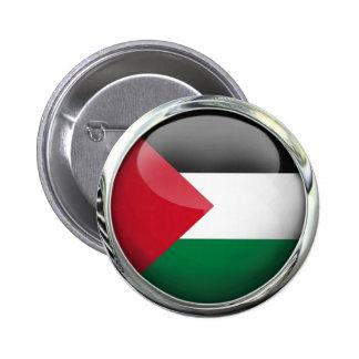Palestine Flag Glass Ball 2 Inch Round Button