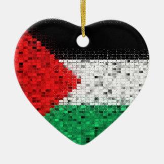 Palestine Flag glitter ornament