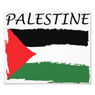 Palestine flag Paper Photo Print