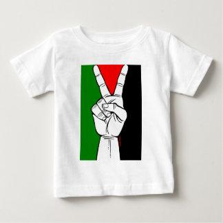 PALESTINE FLAG PEACE SIGN TEE SHIRT