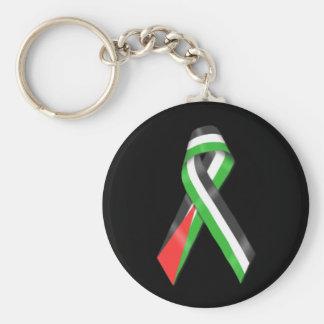 Palestine flag ribbon Keyring Basic Round Button Keychain