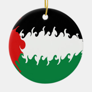 Palestine Gnarly Flag Ceramic Ornament