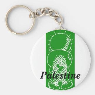 palestine handalah basic round button keychain