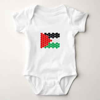 Palestine hearts baby bodysuit