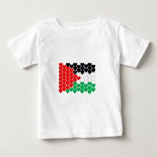 Palestine hearts baby T-Shirt