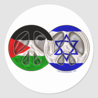 Palestine - Israel Peace Classic Round Sticker
