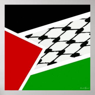Palestine Keffiyah Flag Poster