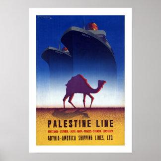 Palestine Line Poster