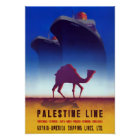 Palestine Line Vintage Travel Poster