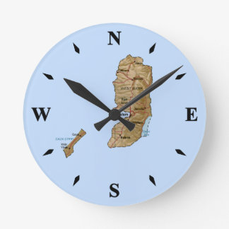 Palestine Map Clock