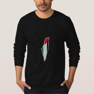 Palestine map with koffiyeh ( Black ) T-Shirt