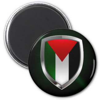 Palestine Metallic Emblem Magnet