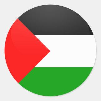 Palestine quality Flag Circle Classic Round Sticker