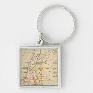 Palestine sous Constantin le Grand, 330 apres JC Silver-Colored Square Keychain