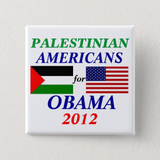 palestinian americans for Obama 2 Inch Square Button