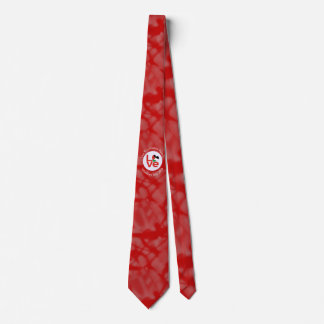 Palestinian LOVE White on Red Tie