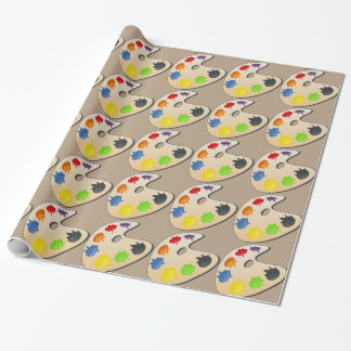 palette de mélange de couleur d'artiste - papier papier cadeau noël