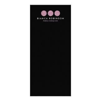 Palette rose de scintillement pour le maquilleur motif pour double carte