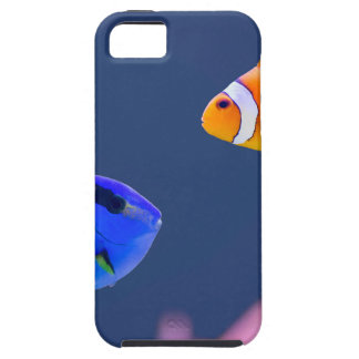 Palette surgeonfish and clown fish swimming iPhone 5 cover