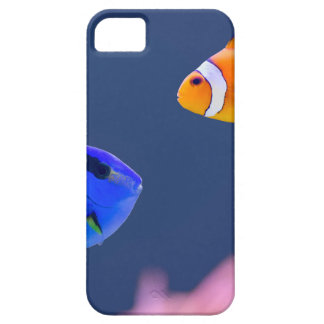 Palette surgeonfish and clown fish swimming iPhone 5 covers