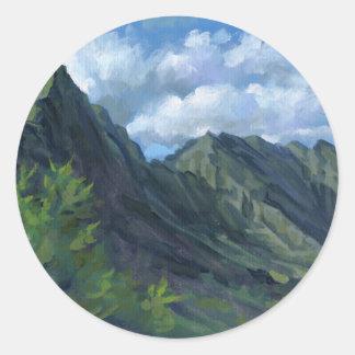 Pali Lookout, O'ahu Classic Round Sticker