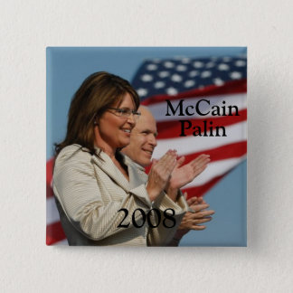 Palin 2008 2 inch square button