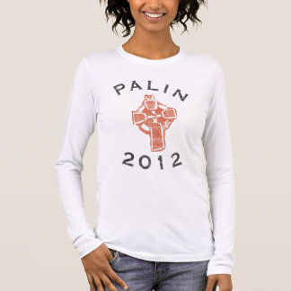 Palin 2012 Long Sleeve Cross Womens Shirt