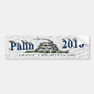 PALIN 2016 BumperSticker, Ocean Blue,White Gadsden Bumper Sticker