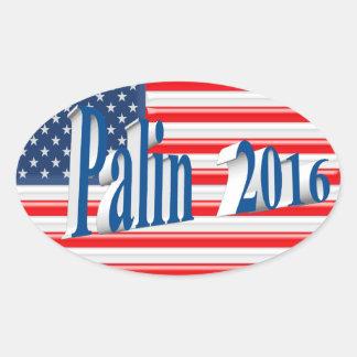 PALIN 2016 Sticker, Sea Blue 3D, Old Glory