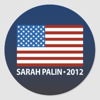 Palin American Flag Classic Round Sticker