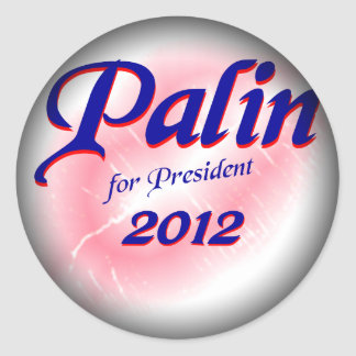 Palin for Prez 2012 Fade to Black Round Stickers