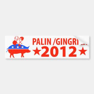 Palin Gingrich 2012 Bumper Sticker