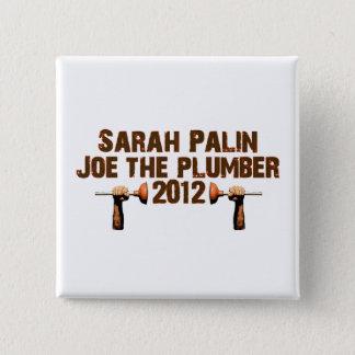 Palin Joe the Plumber 2012 2 Inch Square Button