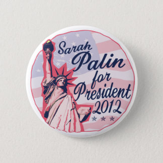 Palin Lady Liberty 2 Inch Round Button