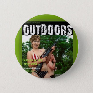 palin outdoors magazine spoof 2 inch round button