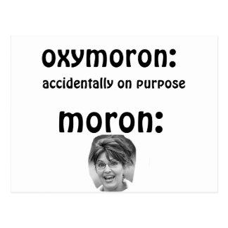 Palin  Oxymoron Postcard