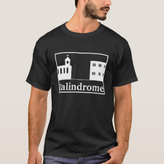 Palindrome Church and Prison - White Text T-Shirt