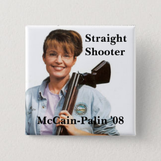 Palingun, McCain-Palin '08, Shooter, Straight 2 Inch Square Button
