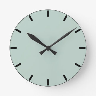 Palladian Blue Round Wall Clock
