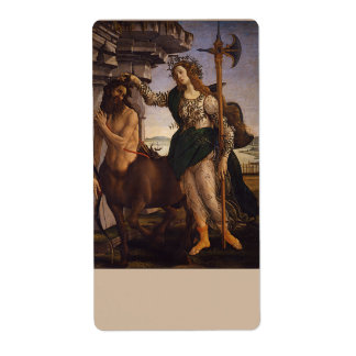 Pallas and the Centaur by Botticelli Custom Shipping Labels