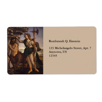 Pallas and the Centaur by Botticelli Custom Shipping Label