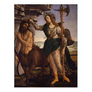 Pallas and the Centaur by Botticelli Postcard