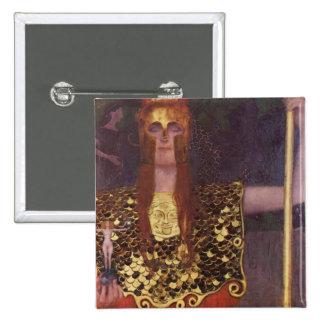 Pallas Athena by Gustav Klimt 2 Inch Square Button