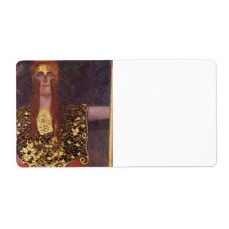 Pallas Athena by Gustav Klimt Shipping Label