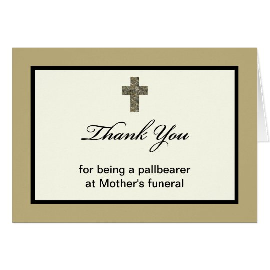 Pallbearer Thank You Card
